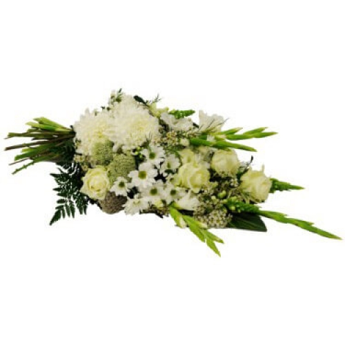Bouquet with the variety of white flowers