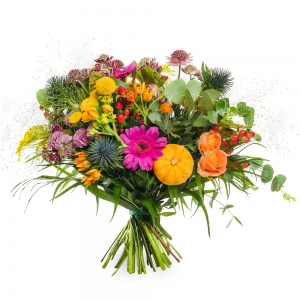 Αφηρημένο μπουκέτο με λουλούδια του φθινοπώρου